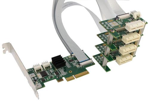 Flexible x4 PCI Express 4-Way Splitter - Amfeltec Corporation