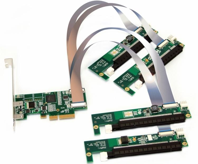 GPU-Oriented x4 PCIe 4-Way Splitter - Amfeltec Corporation
